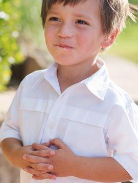 Blue Quail White Short Sleeve Shirt