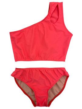 Cheryl Creations Coral One Shoulder Bikini