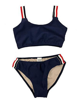 Cheryl Creations Navy TriStripe Bikini