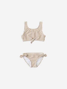 Rylee & Cru Striped Knotted Bikini