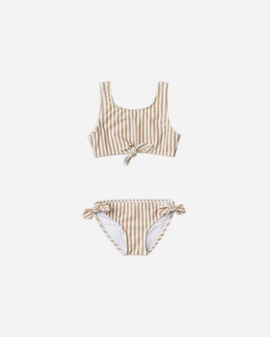 Rylee & Cru Striped Knotted Bikini