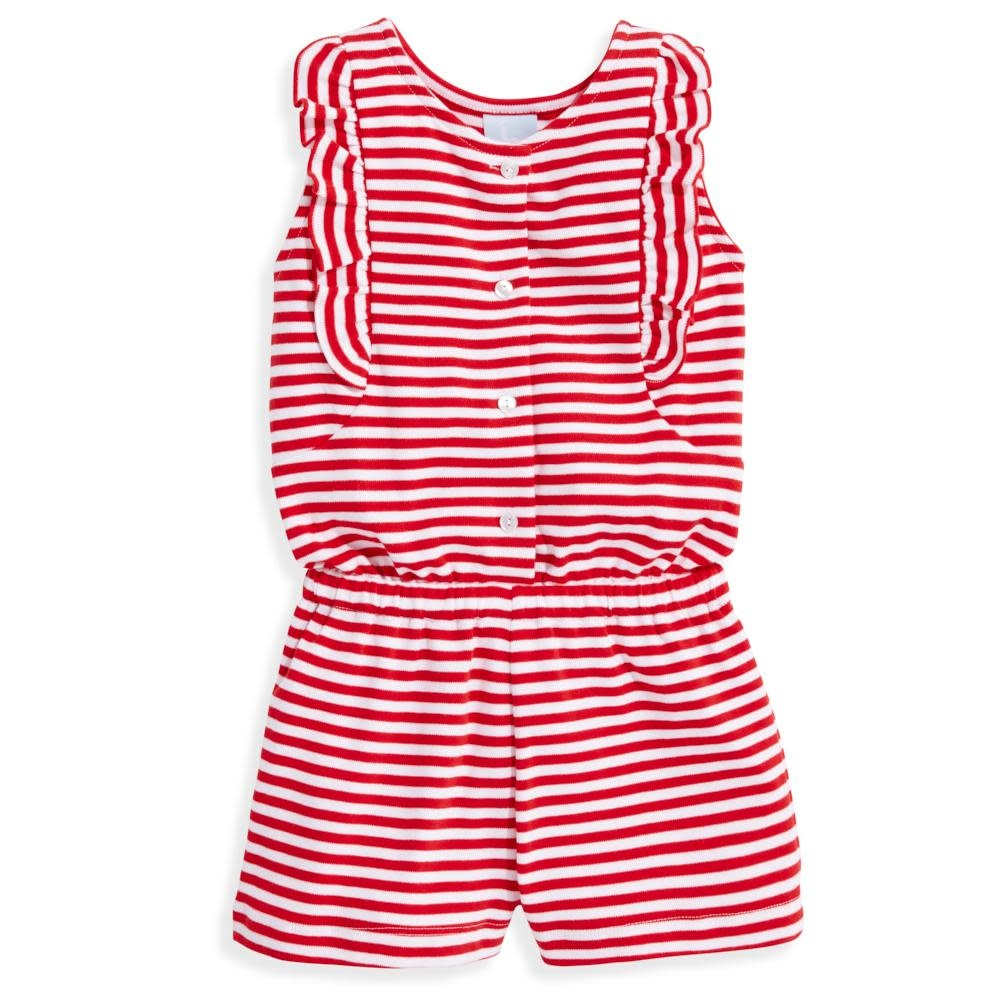bella bliss Red Stripe Bitty Romper