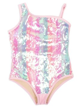 Shade Critters One Shoulder Pastel Swimsuit