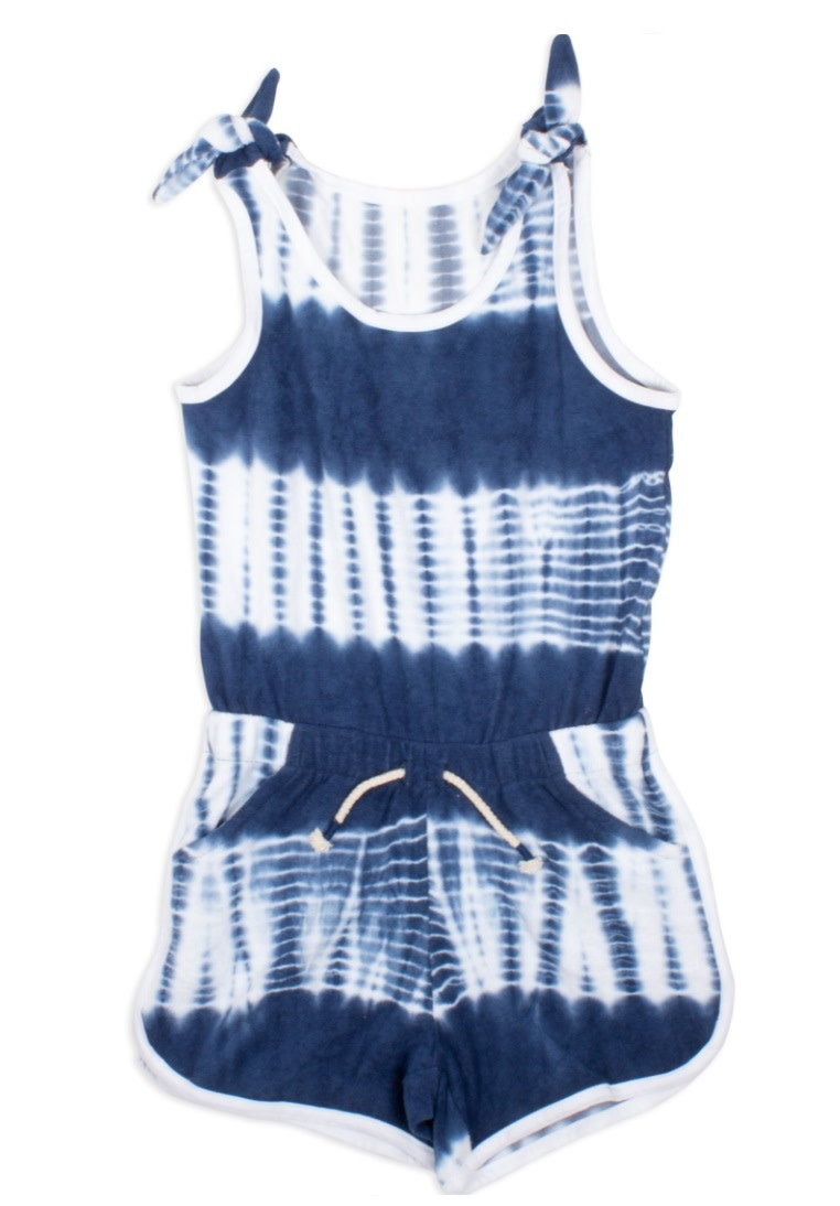 Shade Critters Navy Tie Dye Terry Romper