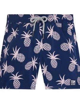 Tom & Teddy Pink Pineapple Swim Trunk