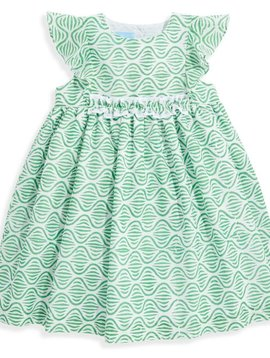 bella bliss Green Trellis Gabby Dress