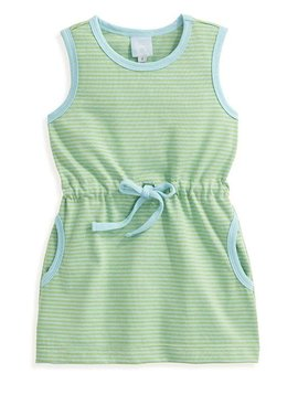 bella bliss Blue/Green Stripe Cinch Dress