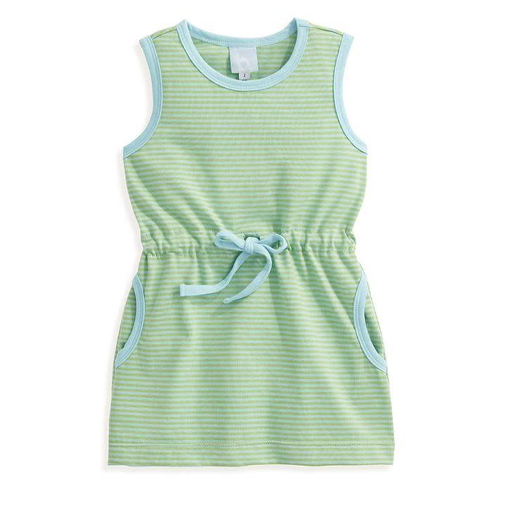 bella bliss Blue/Green Stripe Cinch Dress