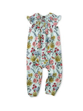 Tea Collection Floral Smocked Baby Romper