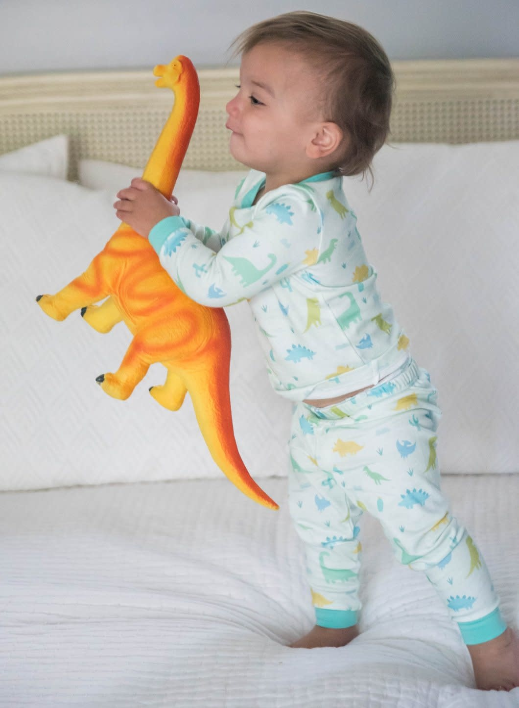 James and Lottie Green Dino Jammies