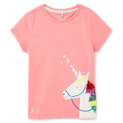 Joules Astra Pink Unicorn Top