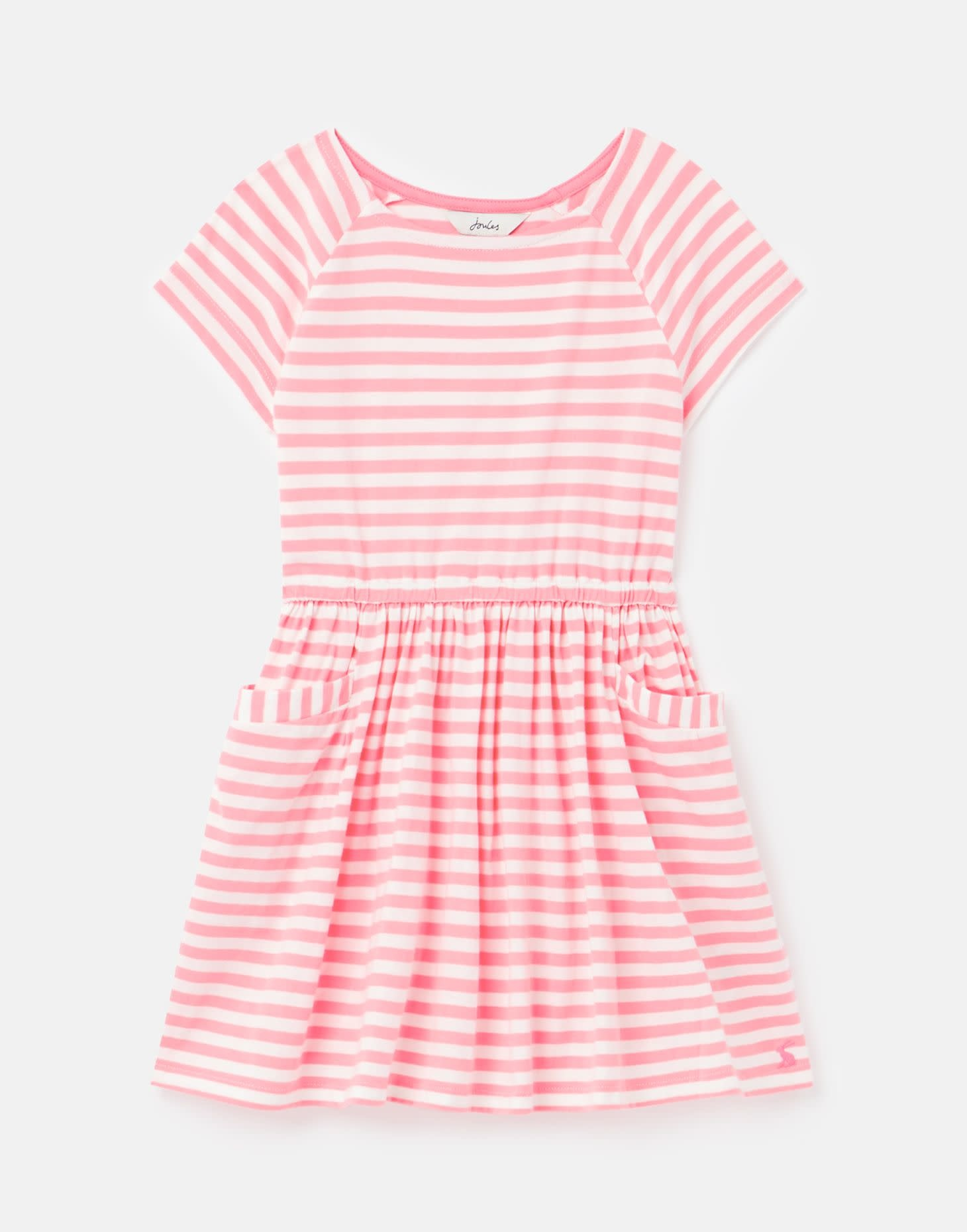 Joules Jude Pink Stripe Jersey Dress