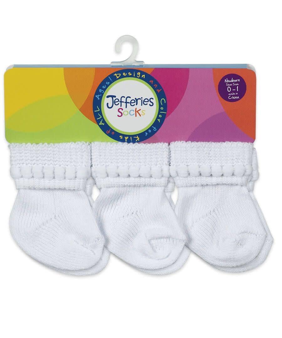 Jefferies Socks 6pk Turn Cuff Baby Socks