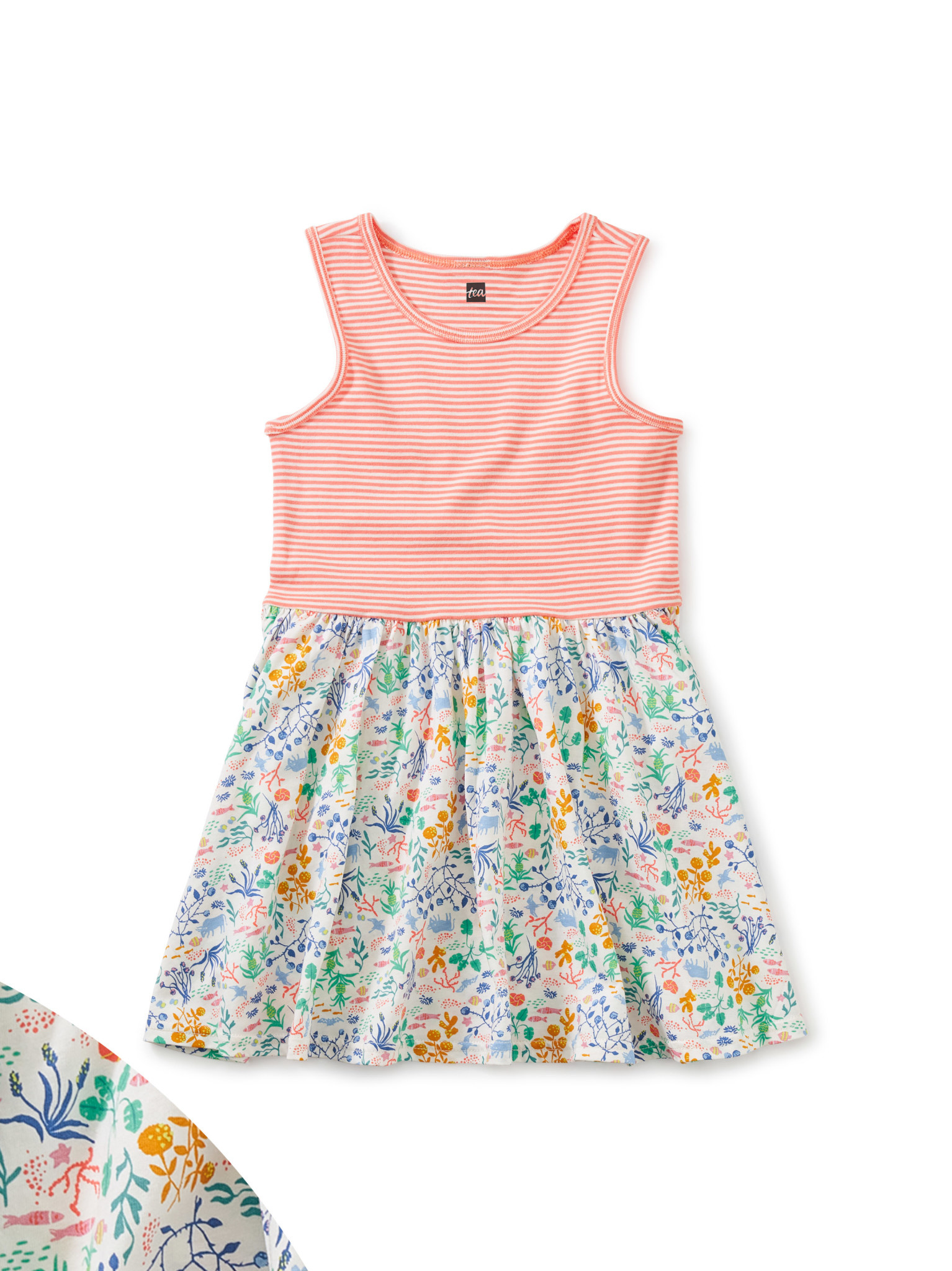 Tea Collection Azores Island Mix Print Dress