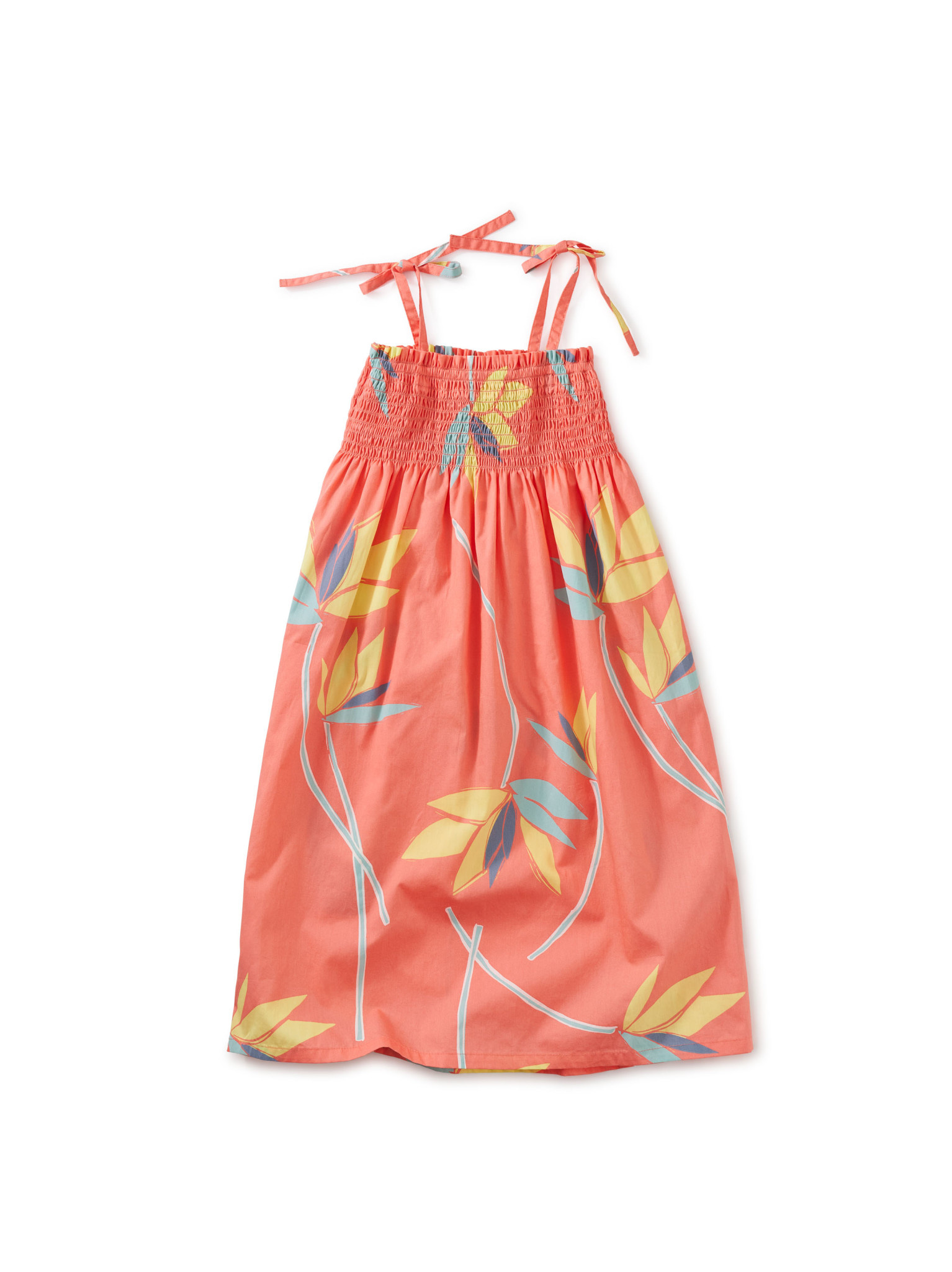 Tea Collection Bird of Paradise Tie  Midi Dress