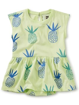 Tea Collection Pineapples Skirted Baby Romper