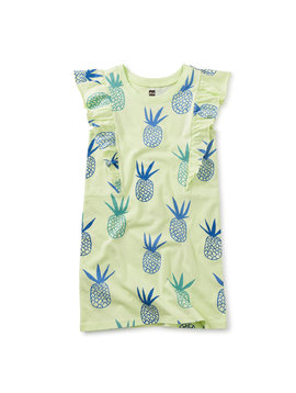 Tea Collection Pineapples Ruffle Dress