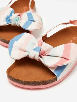 Joules Stripe Bow Bayside Sandal