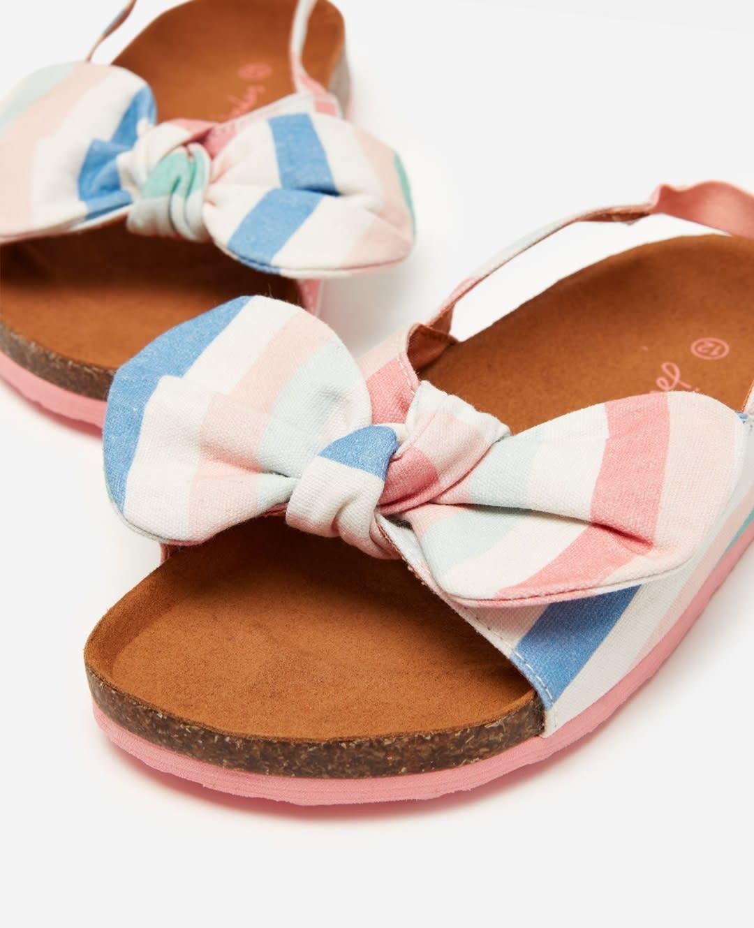 Joules Stripe Bow Bayside Sandal