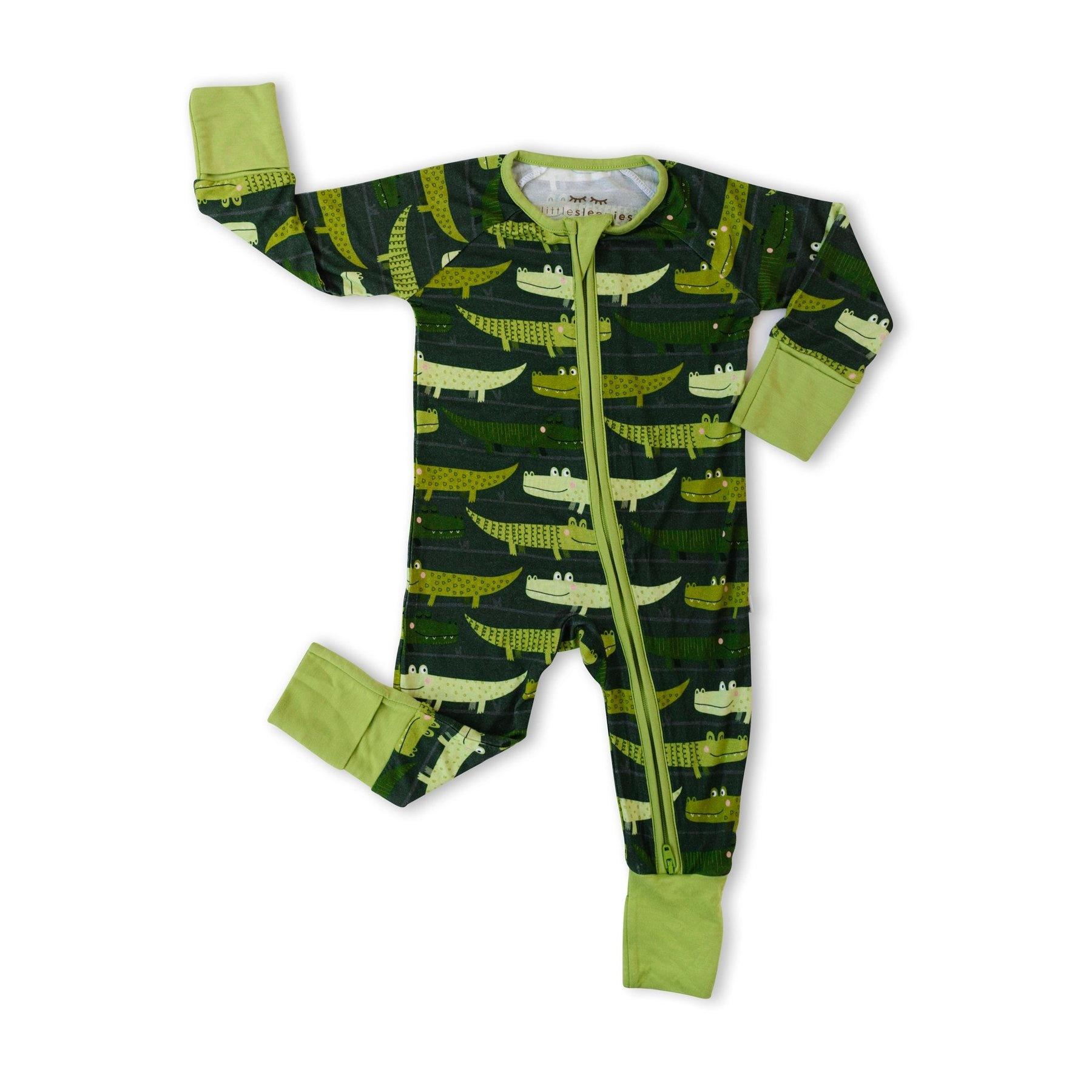 Little Sleepies Green Crocodiles Zippy