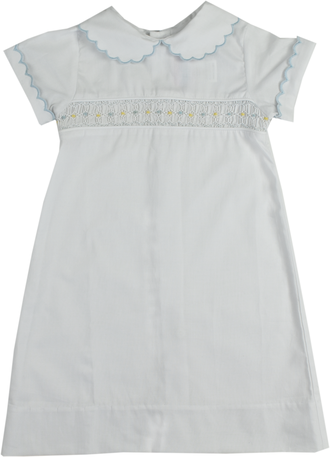 Lullaby Set Blue/Yellow Smocked Daygown
