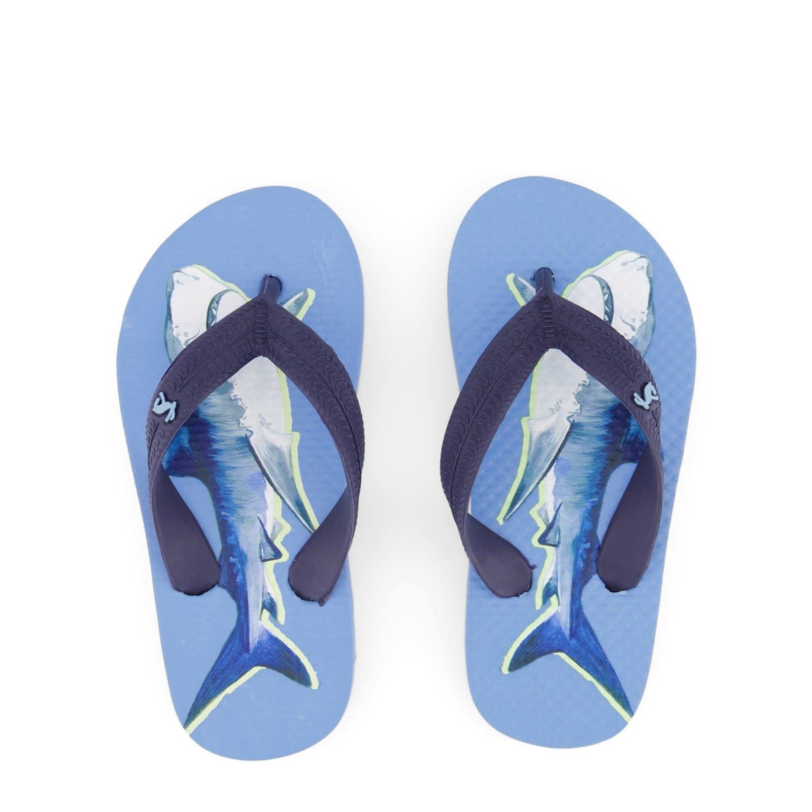 Joules Blue Shark Flip Flop