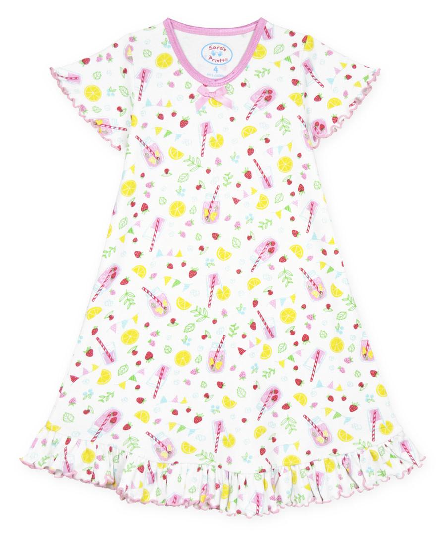 Sara's Prints Ruffle S/S Nightgown