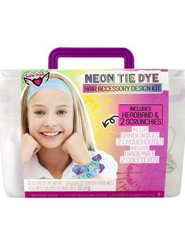 Fashion Angels Neon Tie Dye Hair Accessory Kit