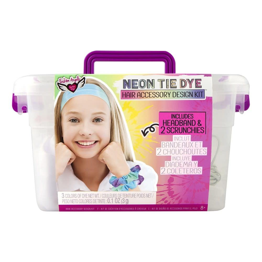 Fashion Angels Neon Tie Dye Hair Accessory Kit