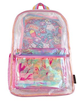 Fashion Angels Clear Sparkle Character Backpack