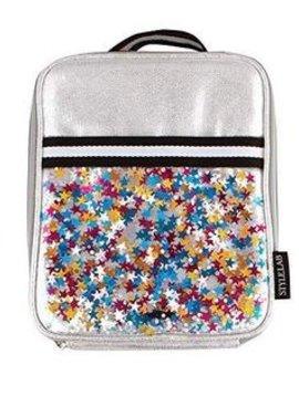 Fashion Angels Silver Star Confetti Lunch Tote