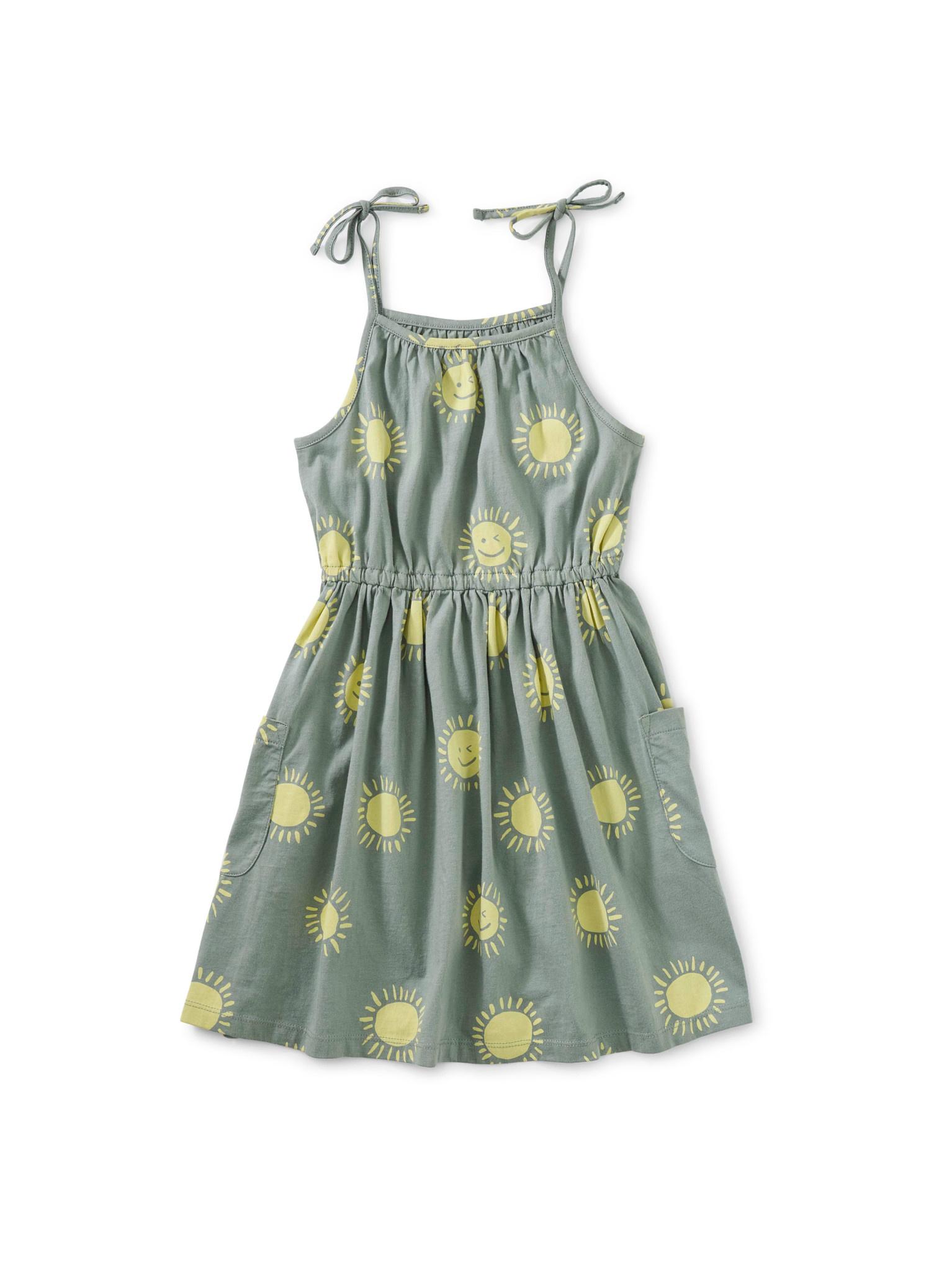 Tea Collection Sun at the Sea Tie Shoulder Dress