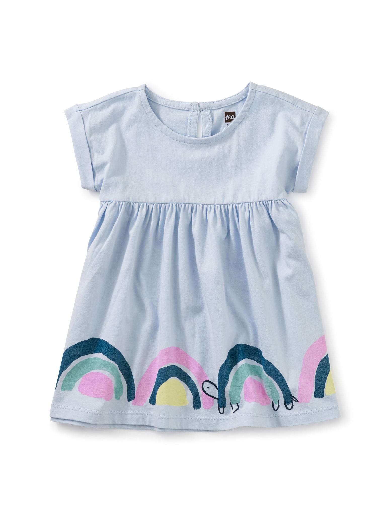 Tea Collection Vista Blue Empire Baby Dress