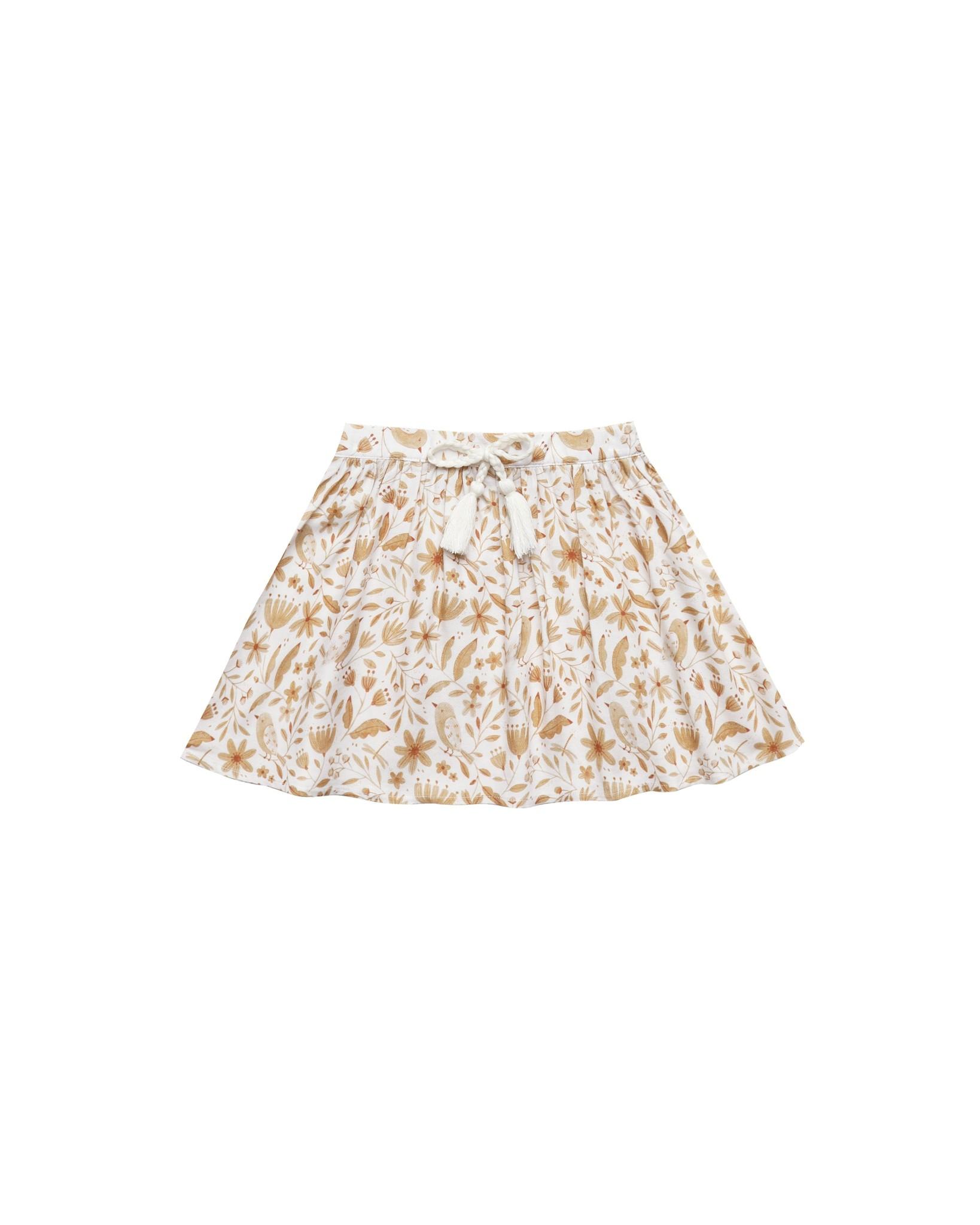 Rylee & Cru Garden Birds Mini Skirt