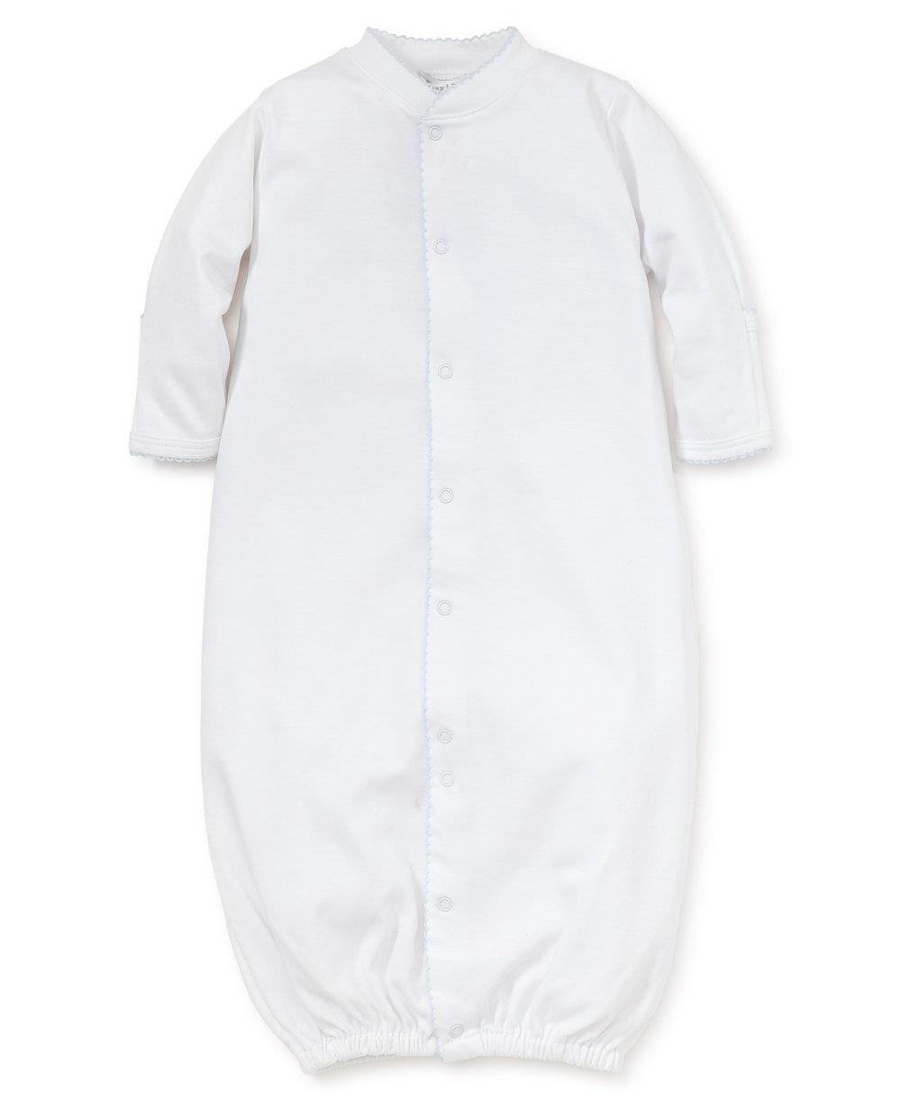 Kissy Kissy White Gown with Trim Blue Preemie