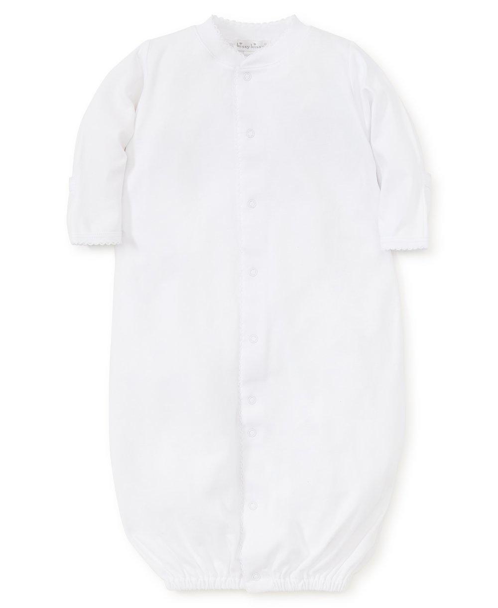 Kissy Kissy White Gown with Trim White Preemie