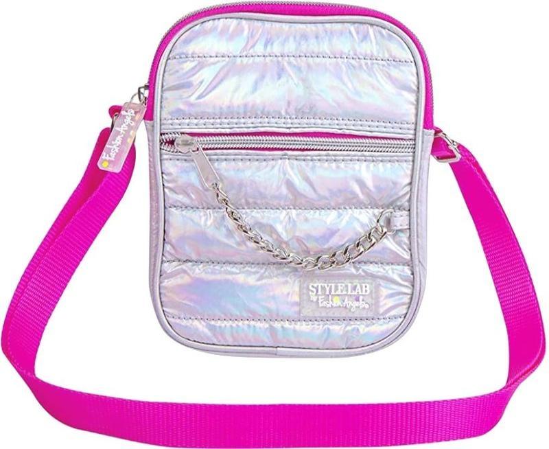 Fashion Angels Mini Backpack Puffer Silver Metallic