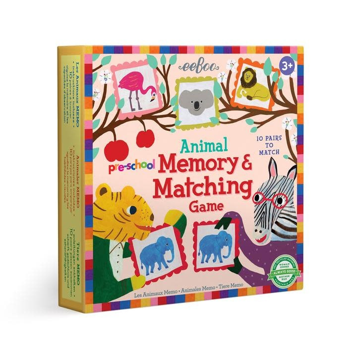 eeboo Preschool Animal Memory Matching Game