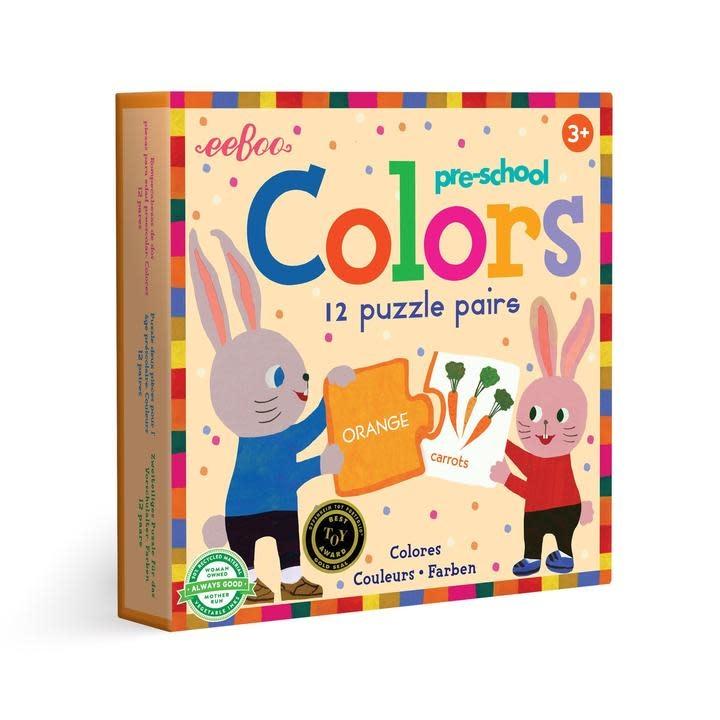 eeboo Preschool Colors Puzzle Pairs