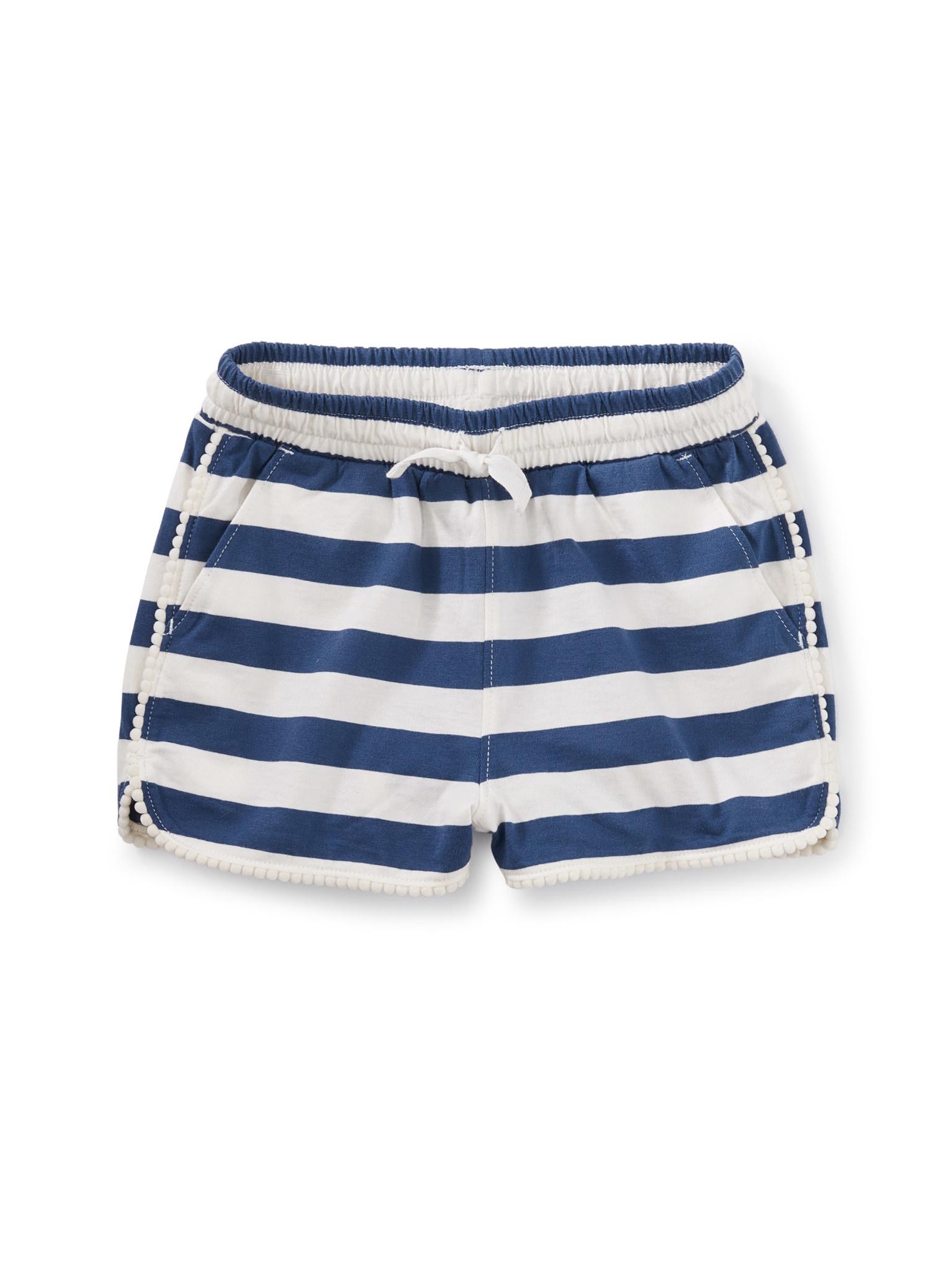 Tea Collection Cobalt Striped Pom Shorts