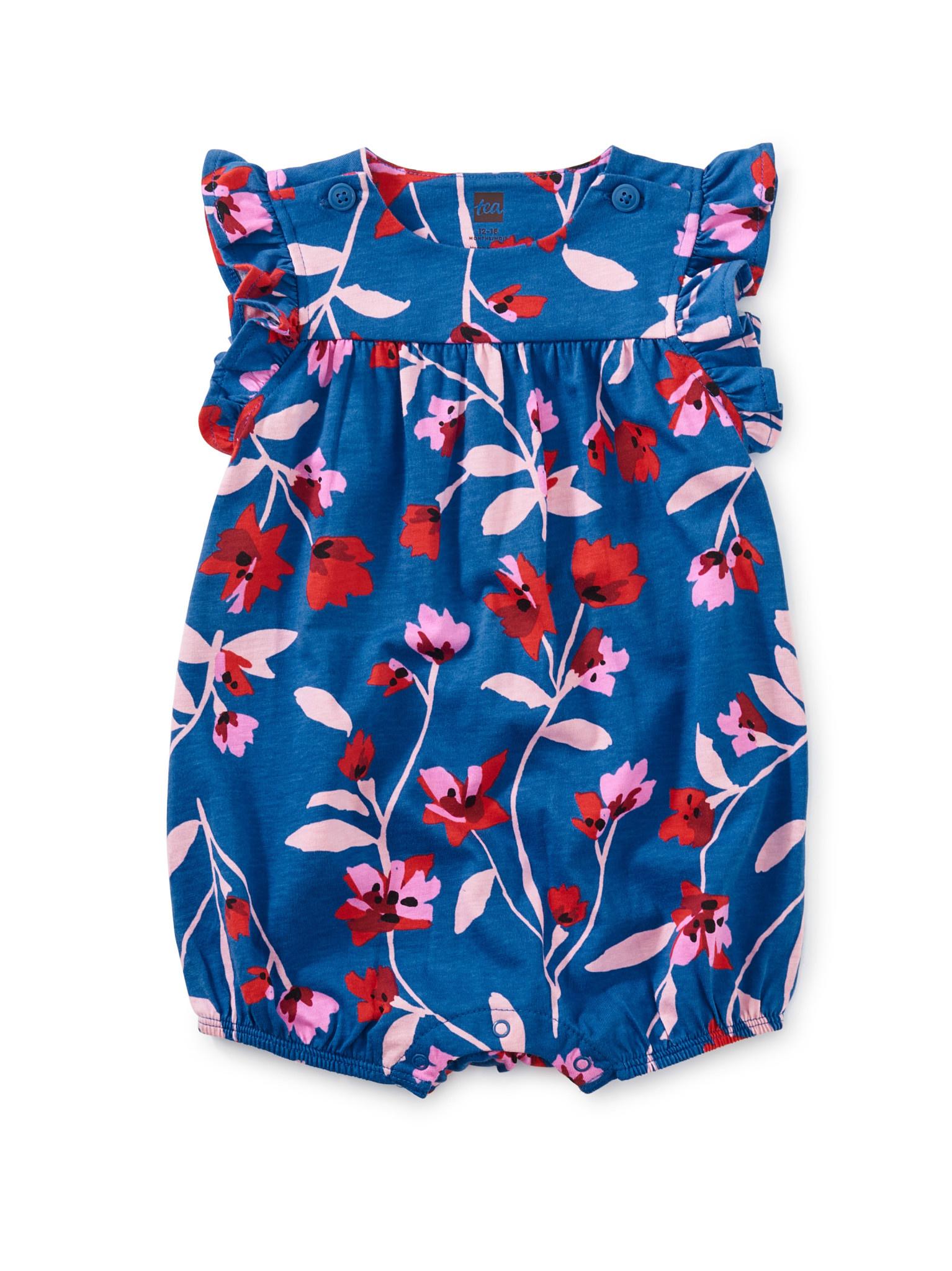 Tea Collection Floral Breeze Flutter Button Romper