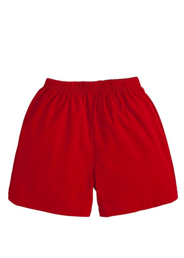 Little English Red Twill Short