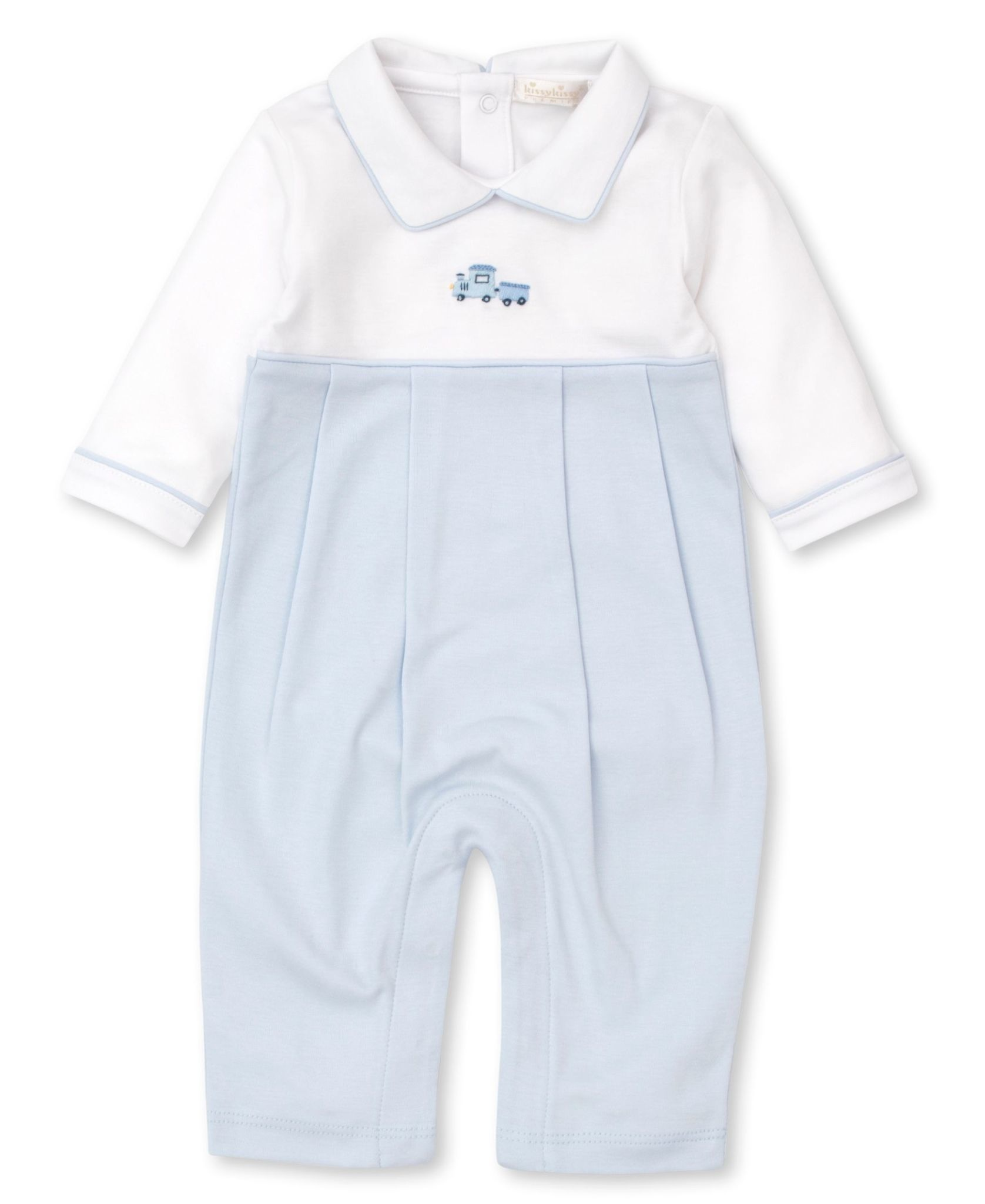 Kissy Kissy Hand Embroidered Train Playsuit
