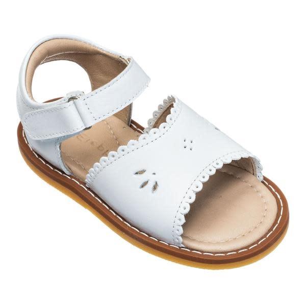 Elephantito White Scallop Sandal