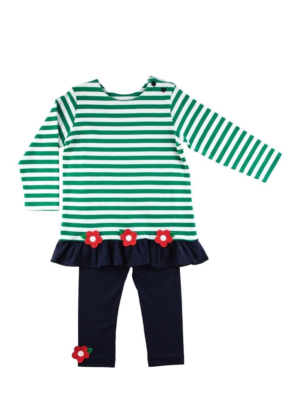 Florence Eiseman Stripe Tunic Legging Set