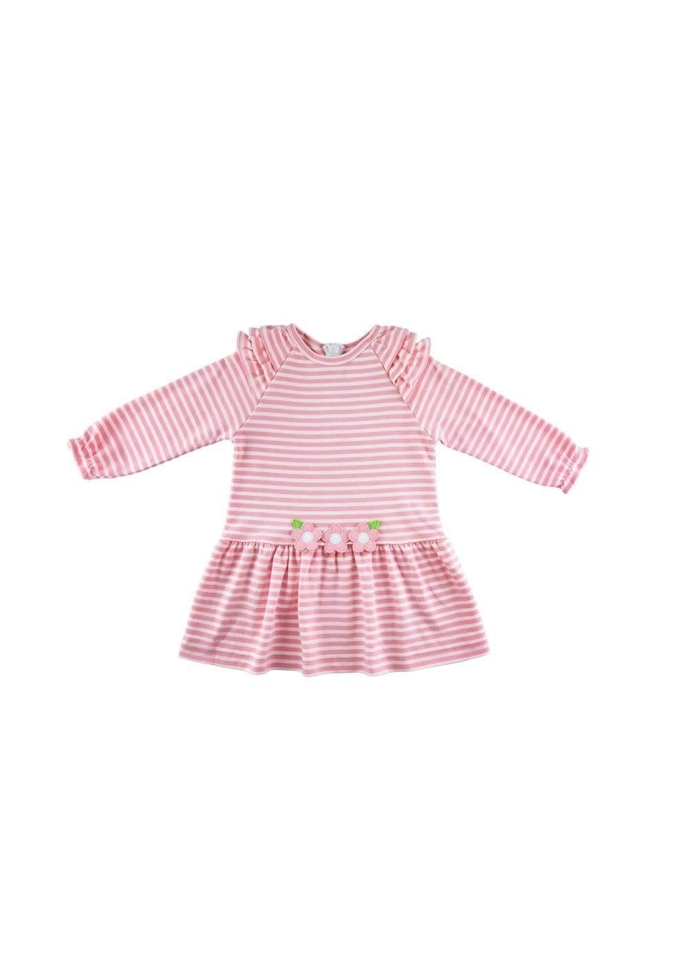 Florence Eiseman Pink Stripe Dress with Flowers