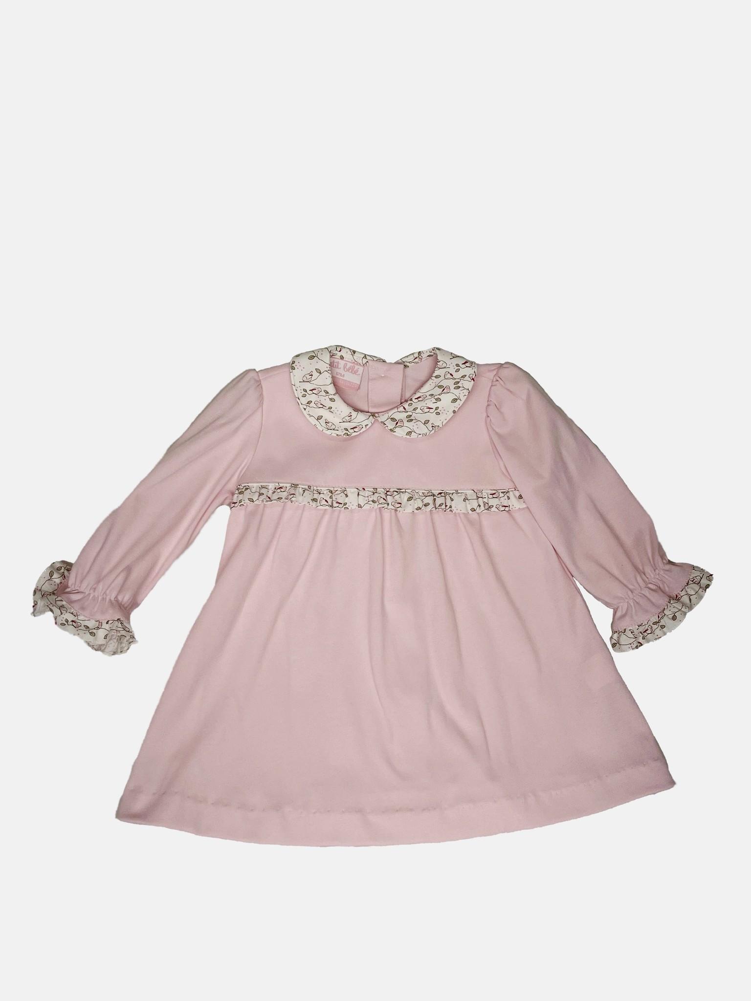 Petit Bebe Floral Collar Dress