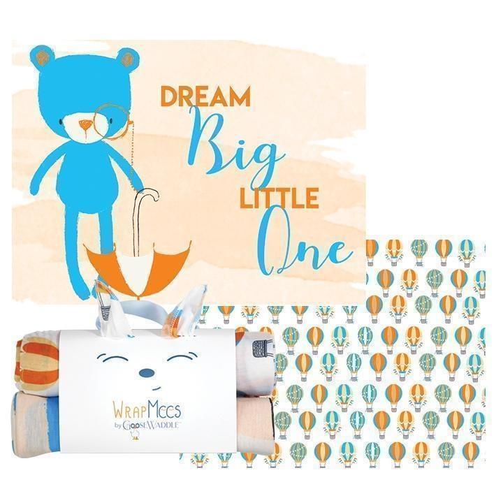GooseWaddle Bear/Balloons Receiving Blankets (2)