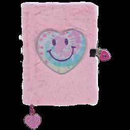 Iscream Heart Tie Dye Furry Journal