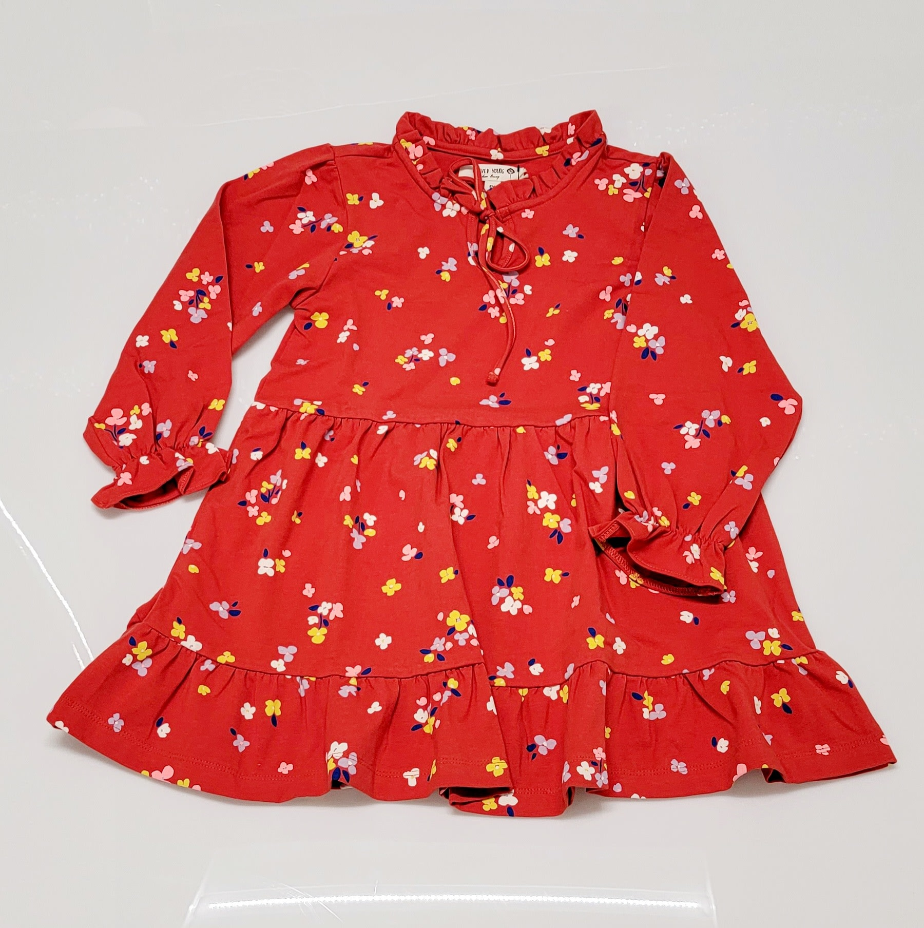 Forever Young Red Floral Dress